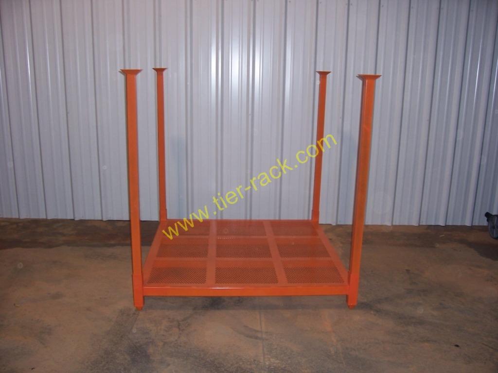 LN5FabricRolls4 · Tire_rack · Passengertirerack, MaximizeSpaceinWarehouse,  Orangeracks4high Photo